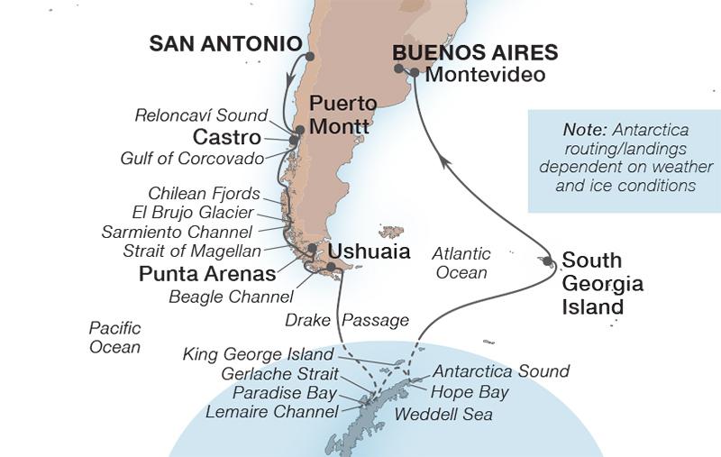 24 Night Ultimate Antarctica & Patagonia