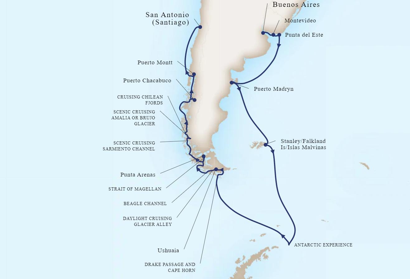 22 Night South America & Antarctica Holiday