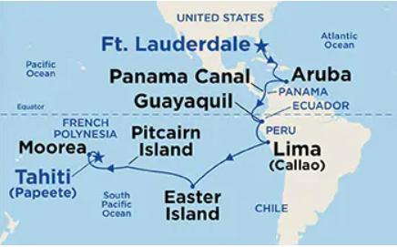 24 Night Tahiti, South America & Panama Canal