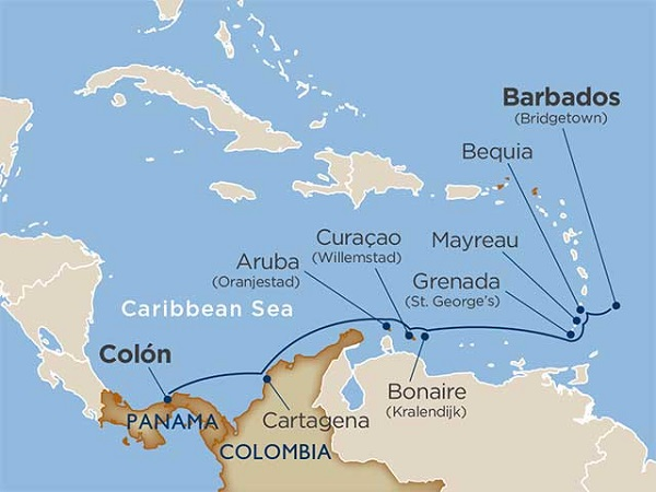 11 Day Colombian & Southern Caribbean Coastlines