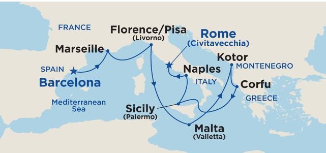 11 Night Grand Western Mediterranean