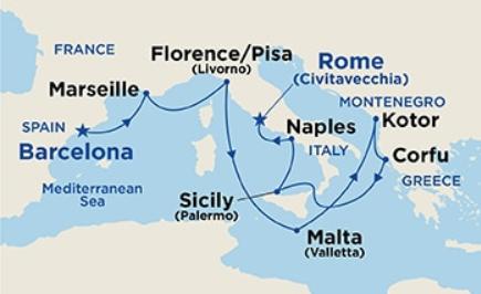 12 Night Grand Western Mediterranean