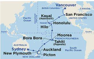 33 Night Hawaii, Tahiti & South Pacific Crossing