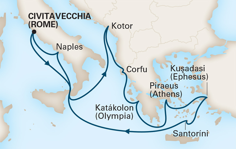12 Night Italy, Greece & more Med