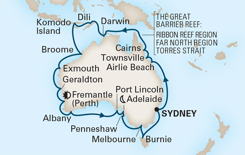 34 Night Circumnavigate Australia