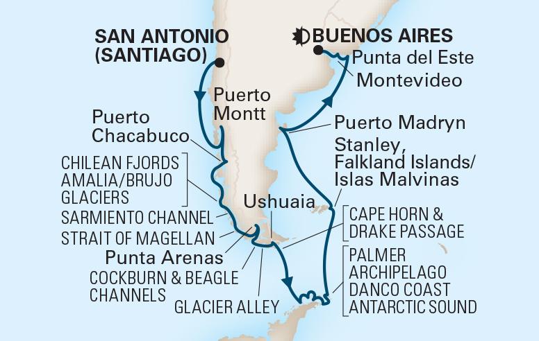 24 Night South America & Antarctica