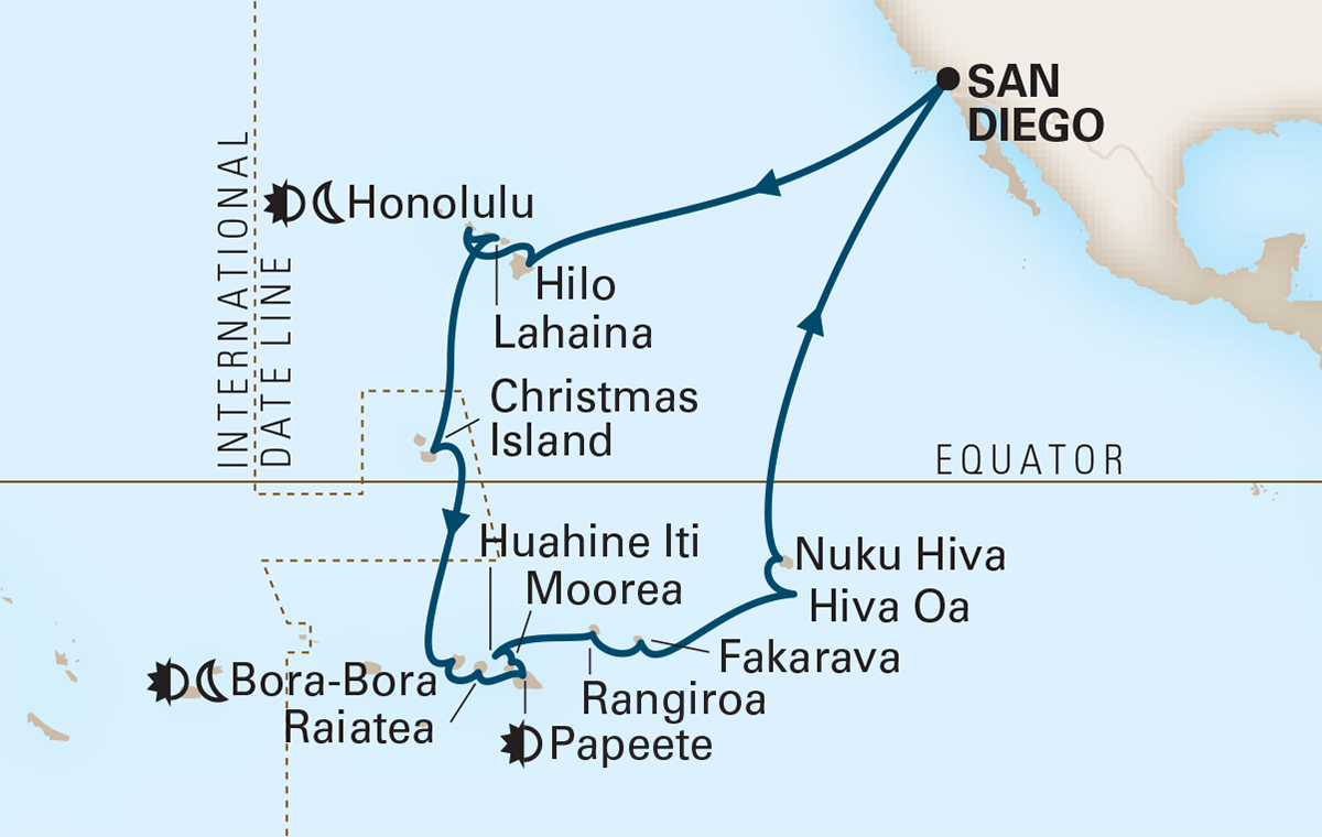 35 Night Hawaii, Tahiti and Marquesas