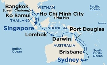 22 Night Asia & Australia