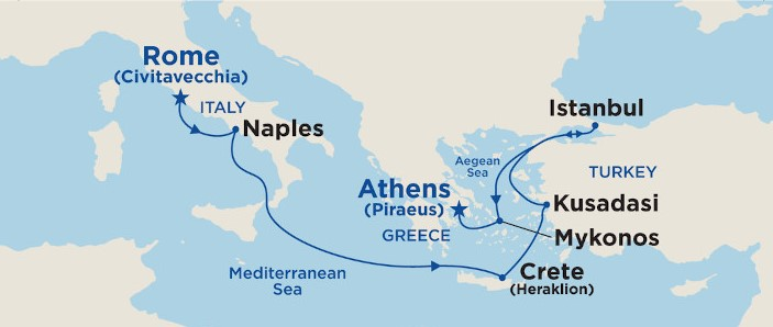 7 Night Aegean & Mediterranean