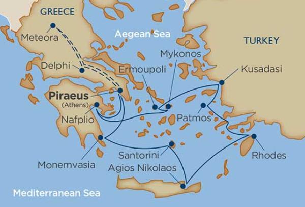 10 Night Delphi & Meteora: Grecian Treasures Cruise Tour