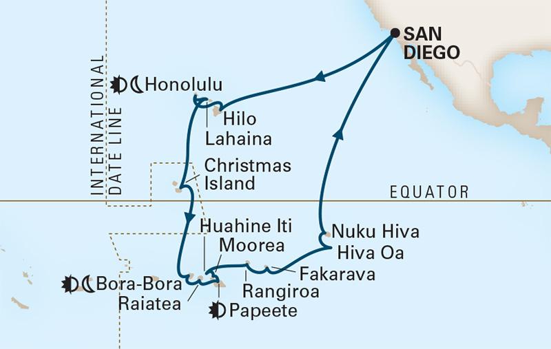 35 Night Hawaii, Tahiti & Marquesas