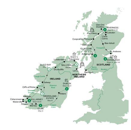 14 Day Best of Ireland & Scotland