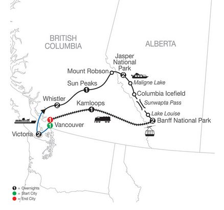 13 Day Majestic Rockies with Rocky Mountaineer