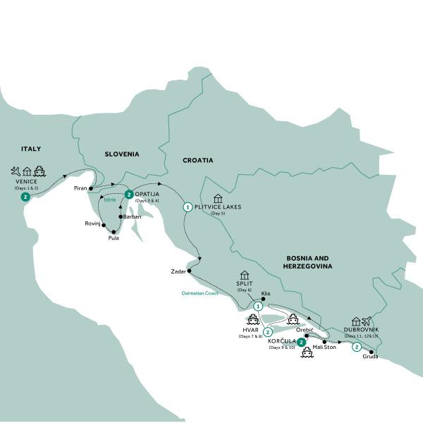13 Day Venice & the Croatian Coast - Women's Exclusive!