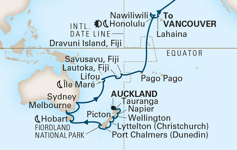 42 Night New Zealand & South Pacific Crossing