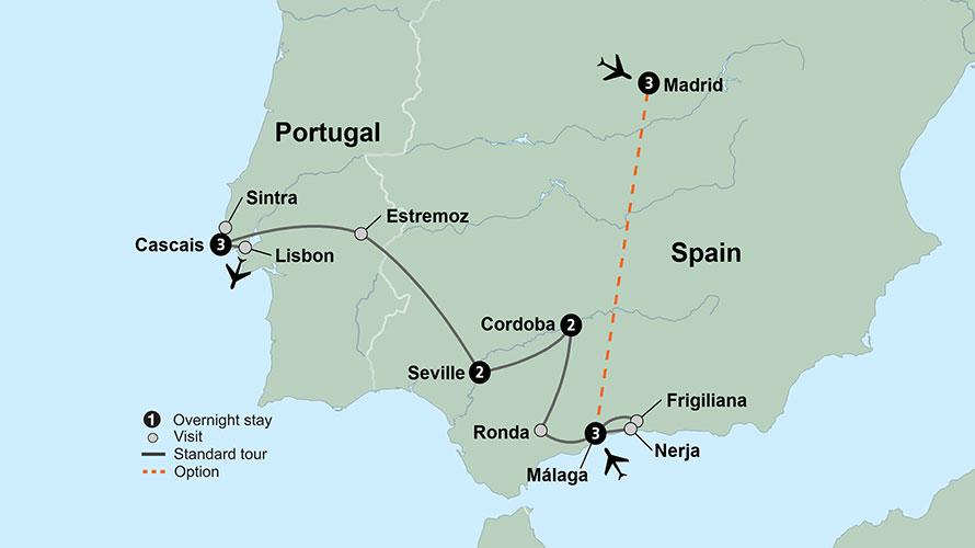 12 Day Spain & Portugal: Costa del Sol to the Portuguese Riviera