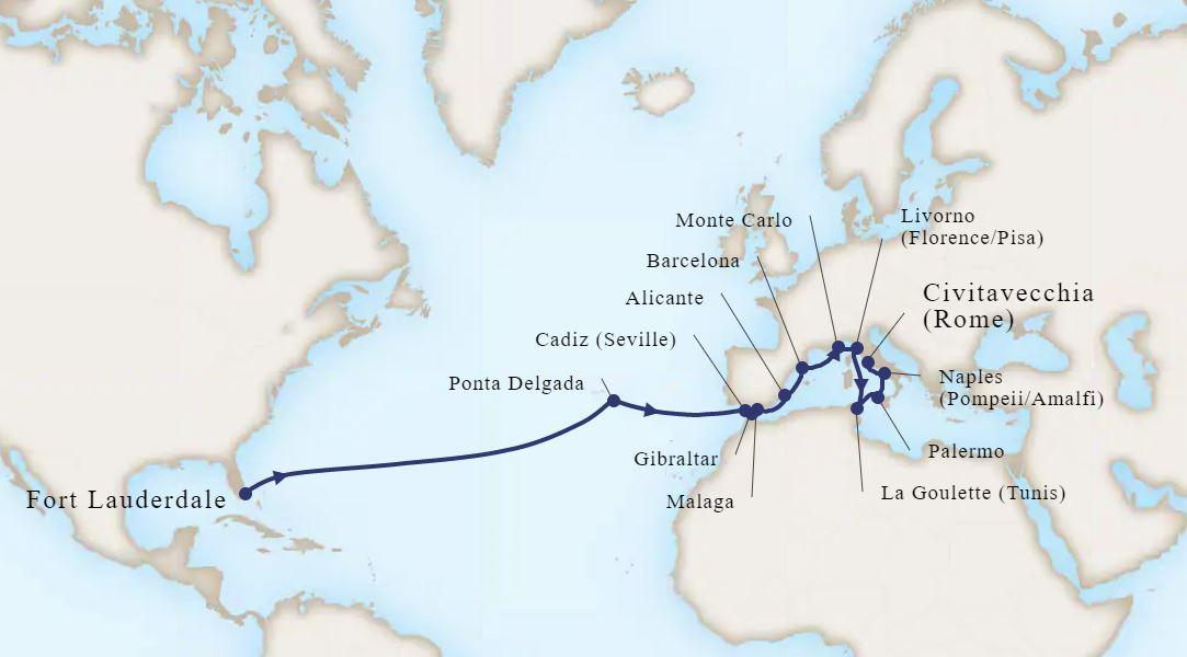 22 Night Passage to Spain & Mediterranean Rivieras