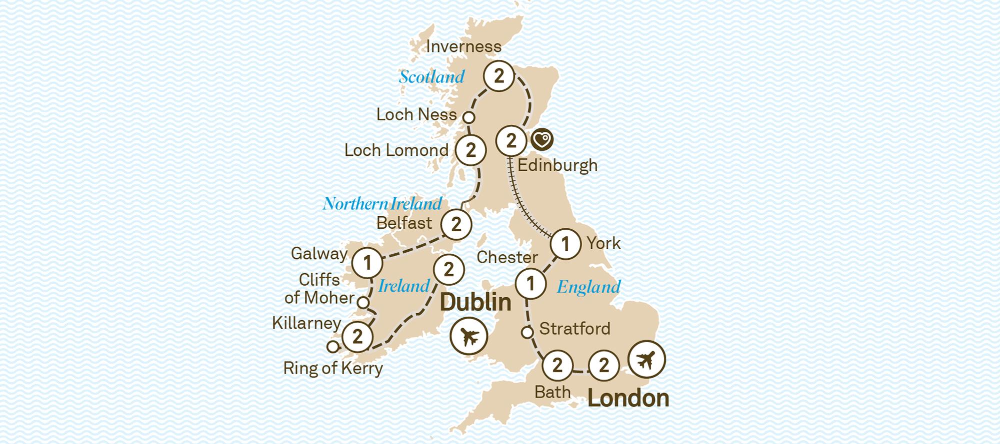 22 Day Majestic Britain & Ireland
