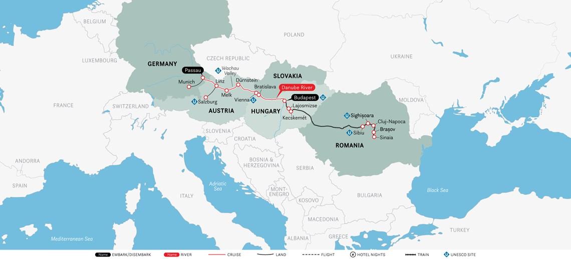 13 Day Cruise & Rail: Castles of Transylvania & the Enchanting Danube