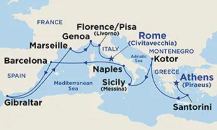 16 Night Western Mediterranean & Adriatic Medley