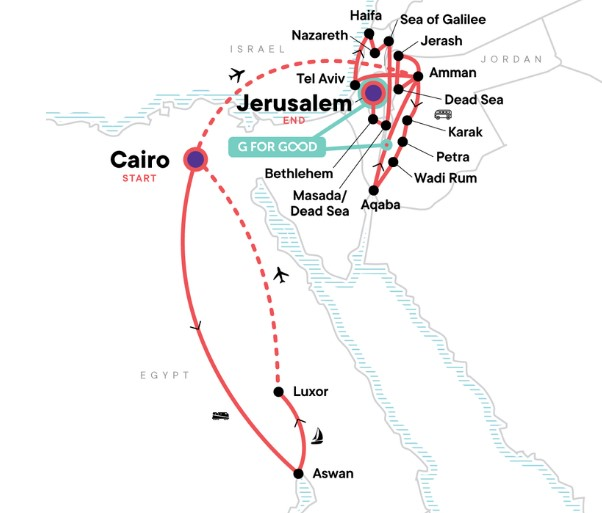 22 Day Best of Egypt, Jordan and Israel