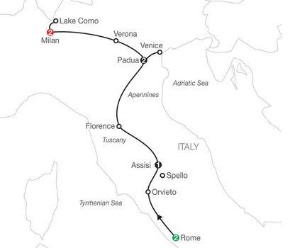 8 Day Italian Vista