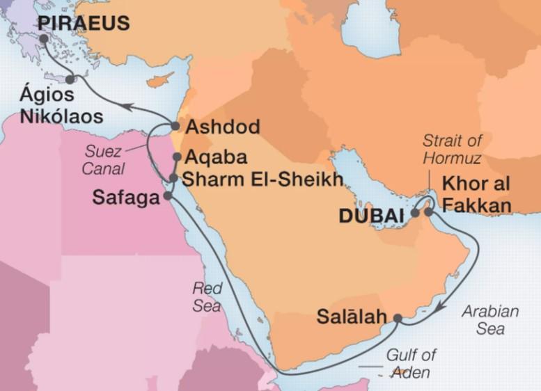 18 Night Arabia, Egypt & Holy Land