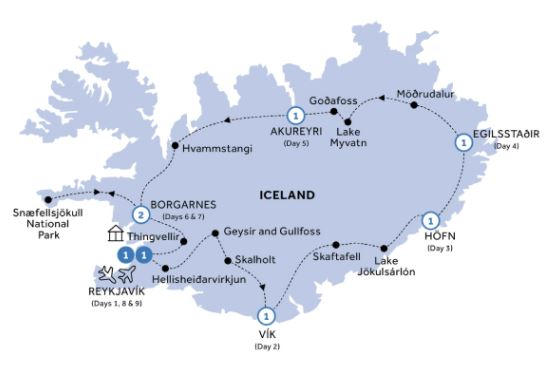 9 Day Natural Wonders of Iceland