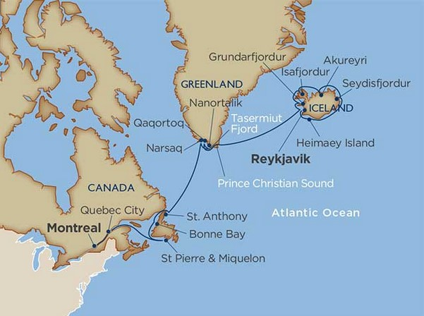 21 Day Star Collector: North Atlantic Explorer: Iceland, Greenland & New England