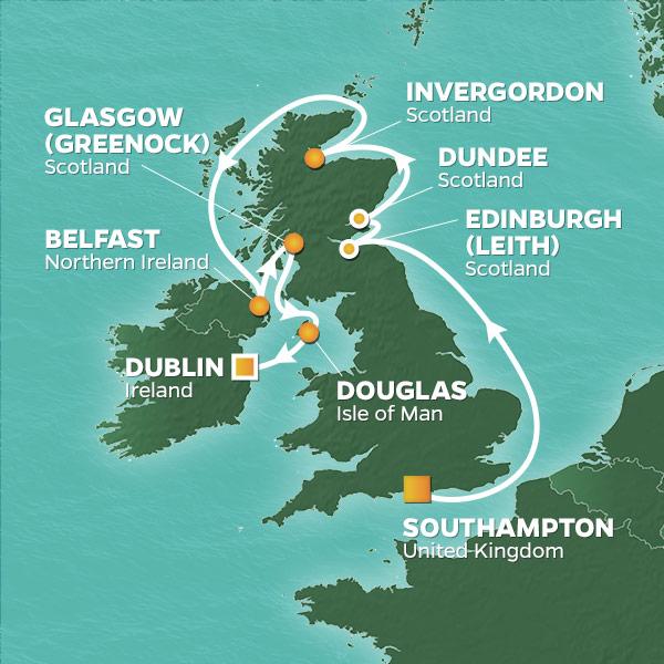 13 Night British Isles Voyage