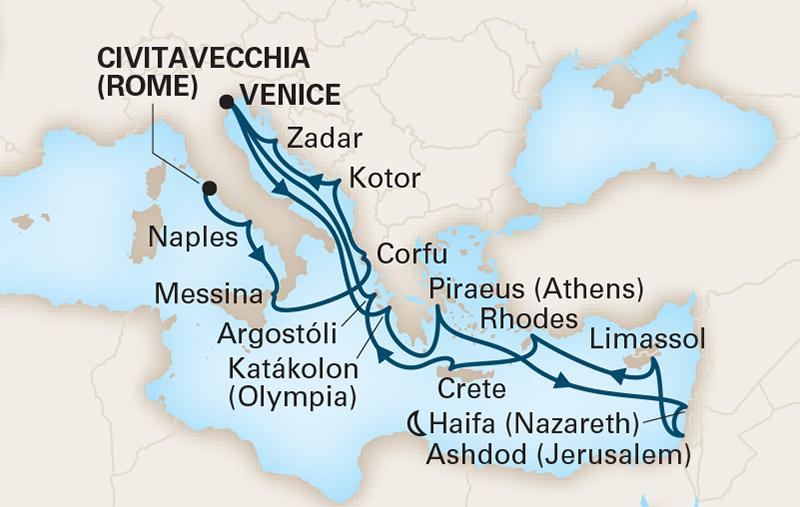 21 Night Mediterranean Dreams, Holy Lands & Ancient Kingdoms