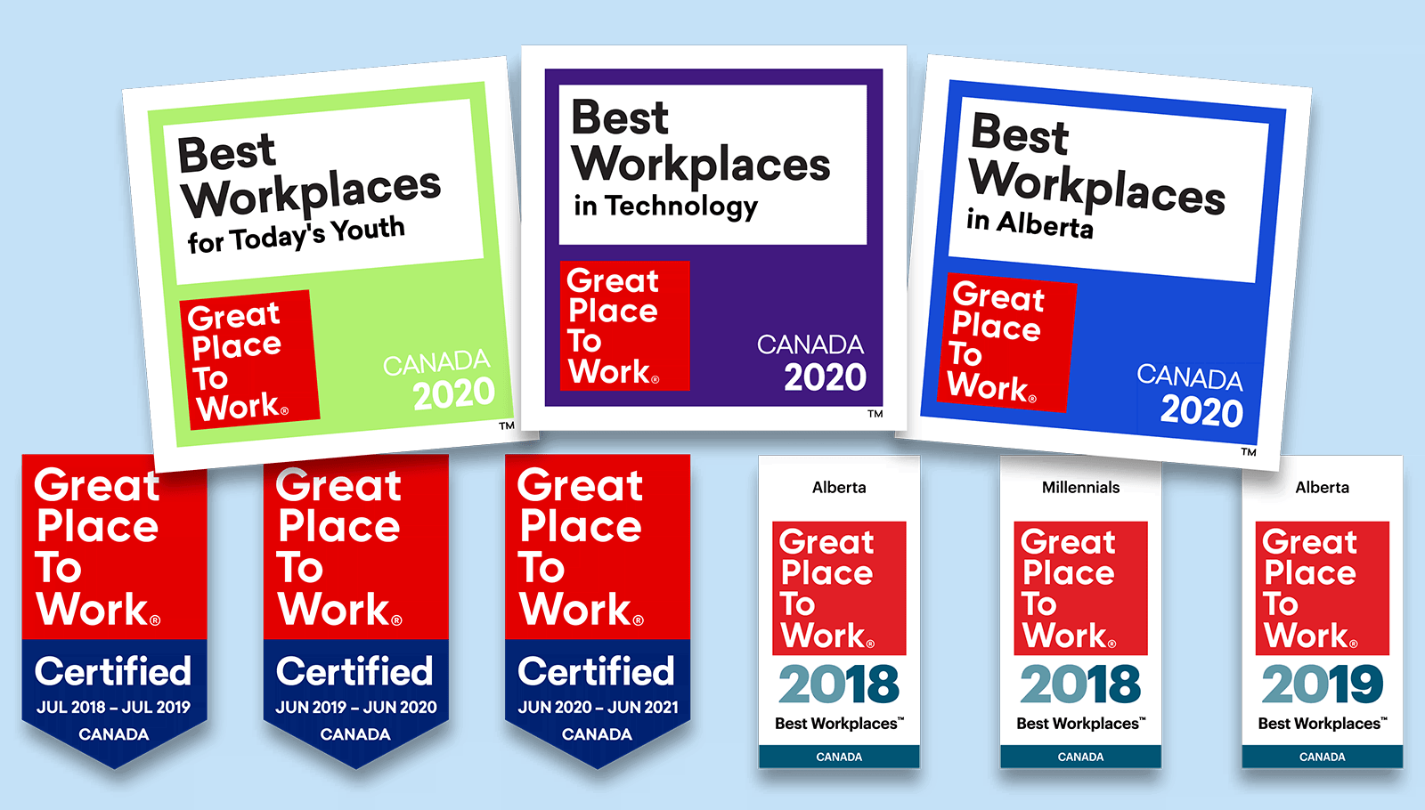 Great Place to Work logos