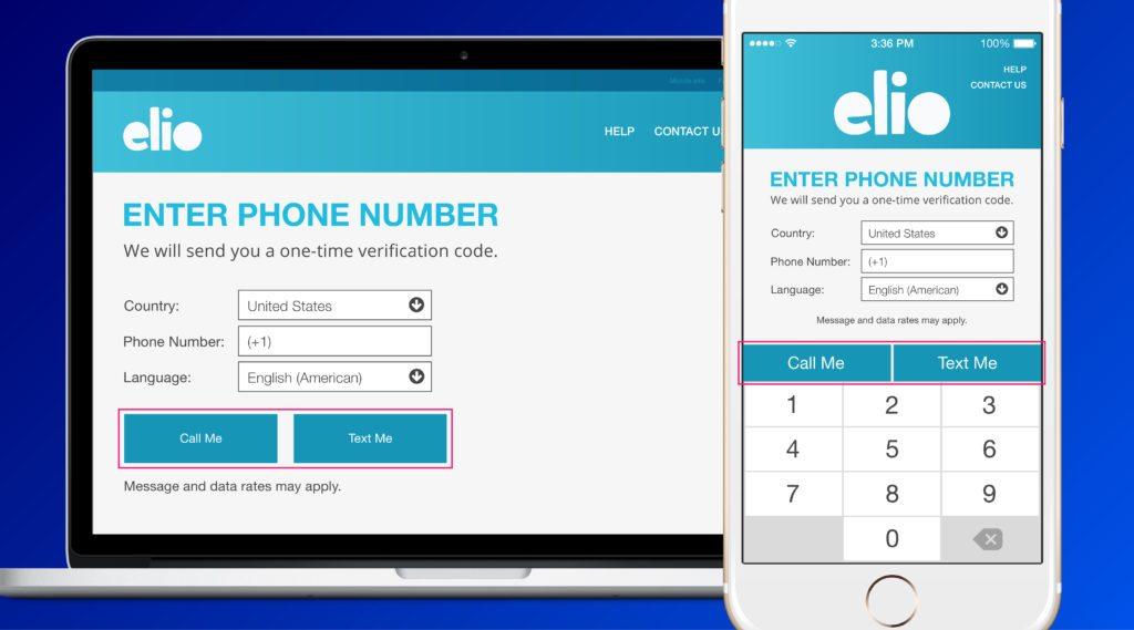 elio app phone verification options