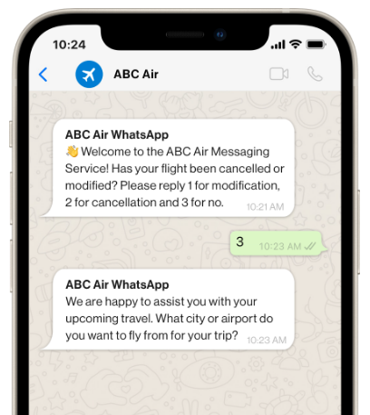Whatsapp customer care messages