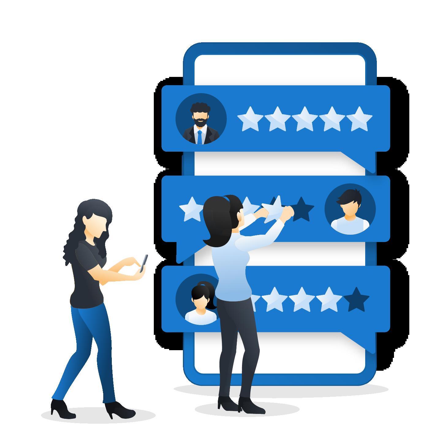 SMS customer rating