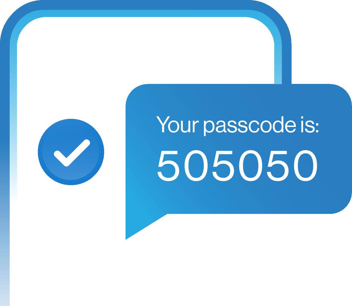 Verification code message