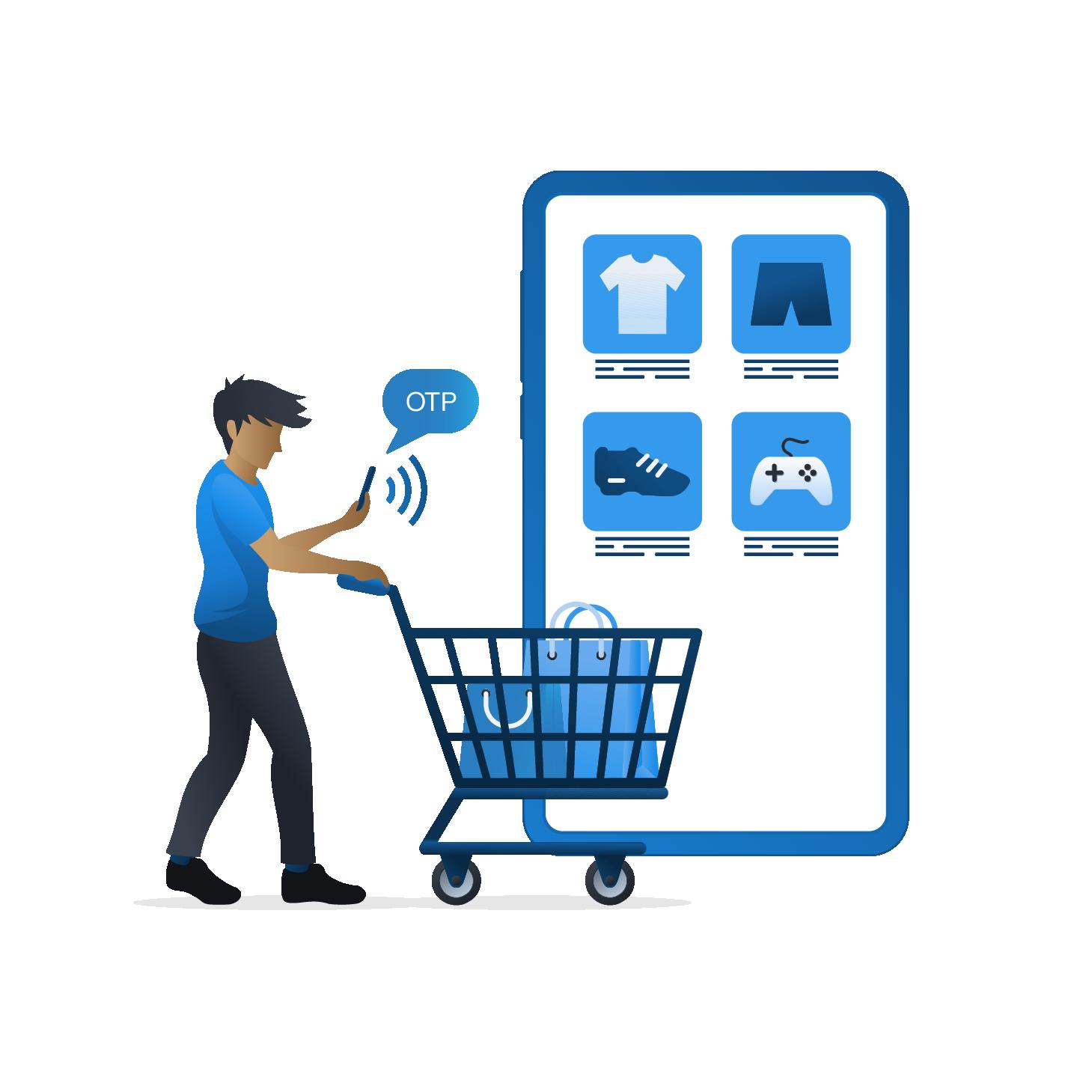 online shopping phone image
