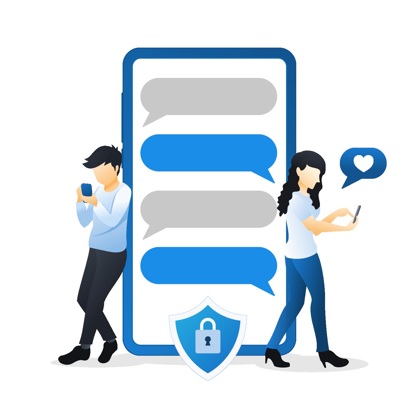 number masking make safe social connections
