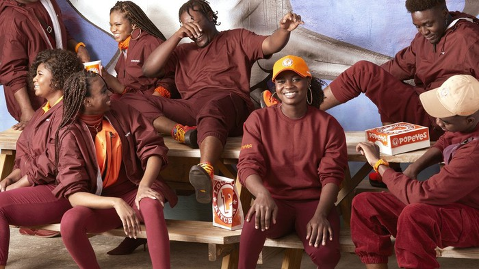 Image result for popeyes new clothing line resembles ivy park