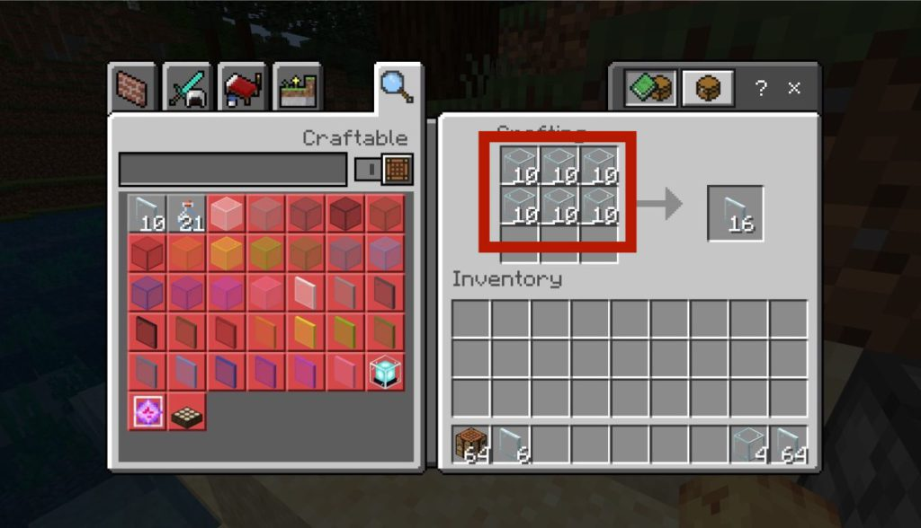 how-to-make-glass-panes-in-minecraft-step2