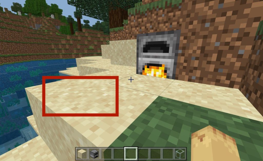 how-to-make-glass-in-minecraft-step1