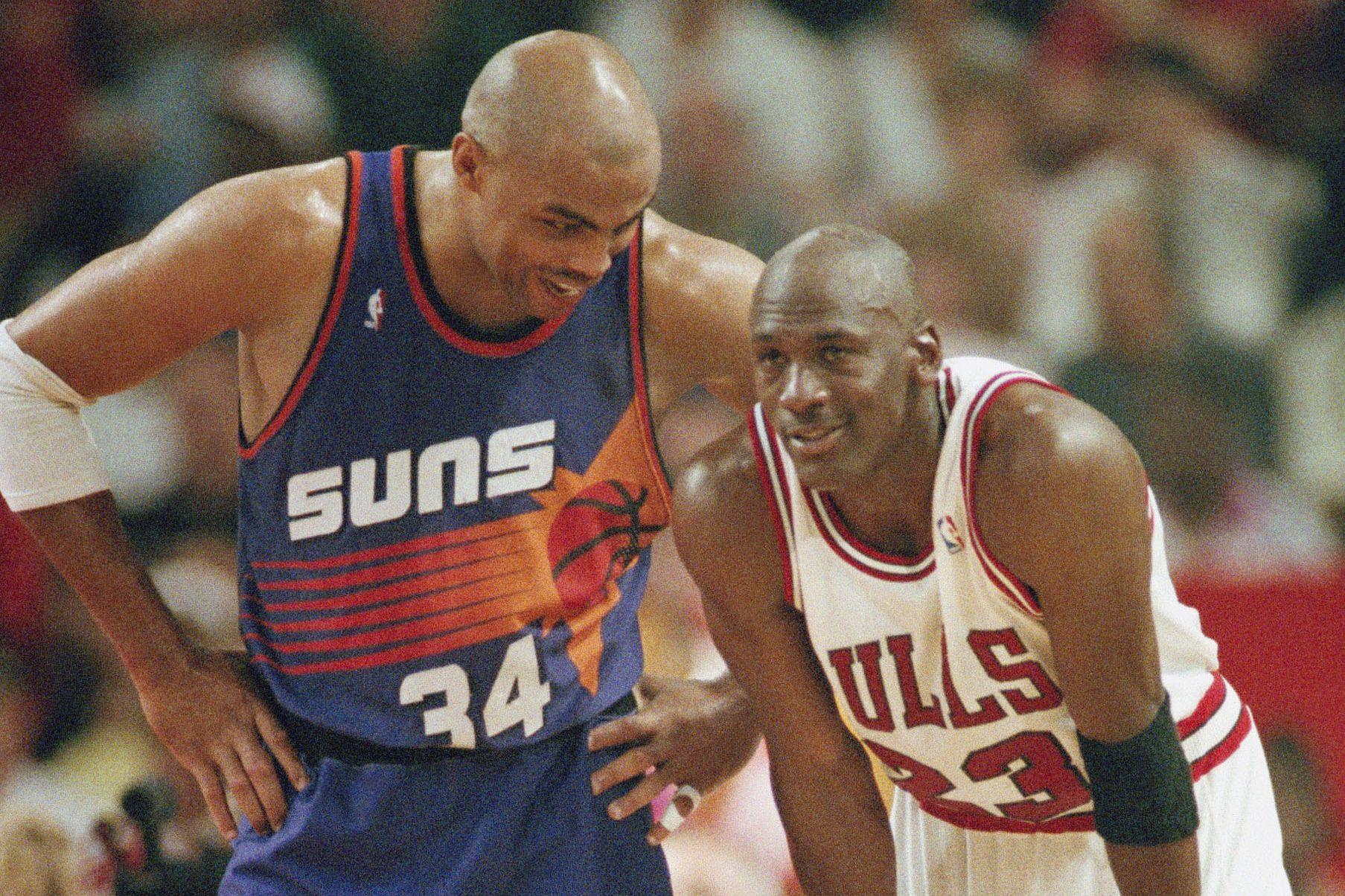 Charles Barkley and Michael Jordan 1993
