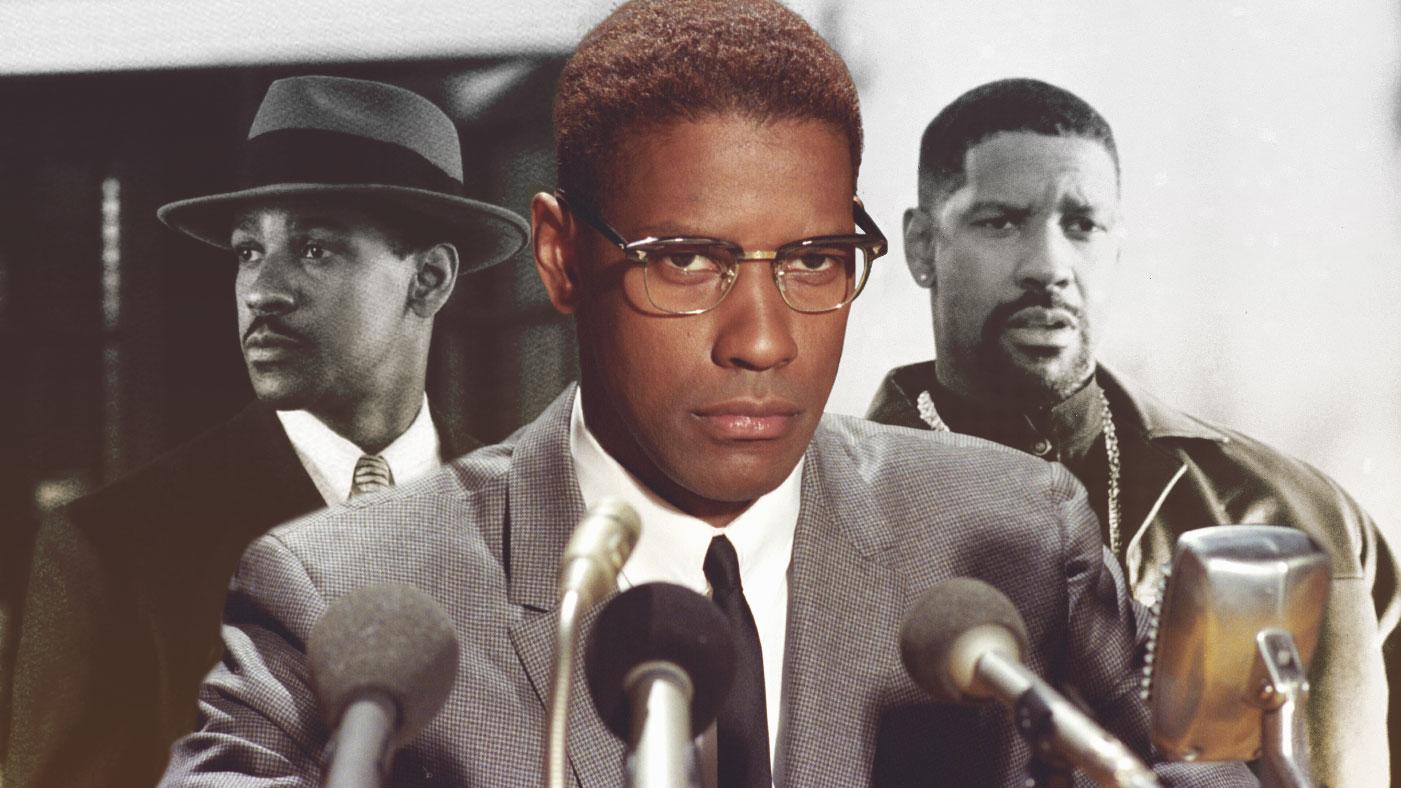 Denzel Washington character collage