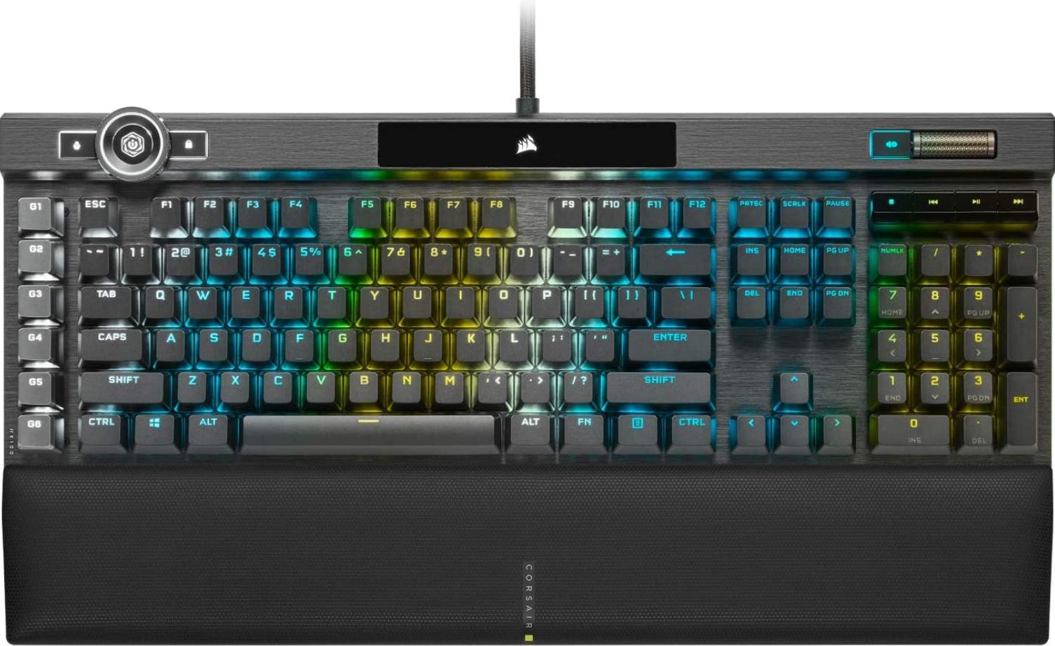 Corsair K100 Mechanical Keyboard with RGB lighting