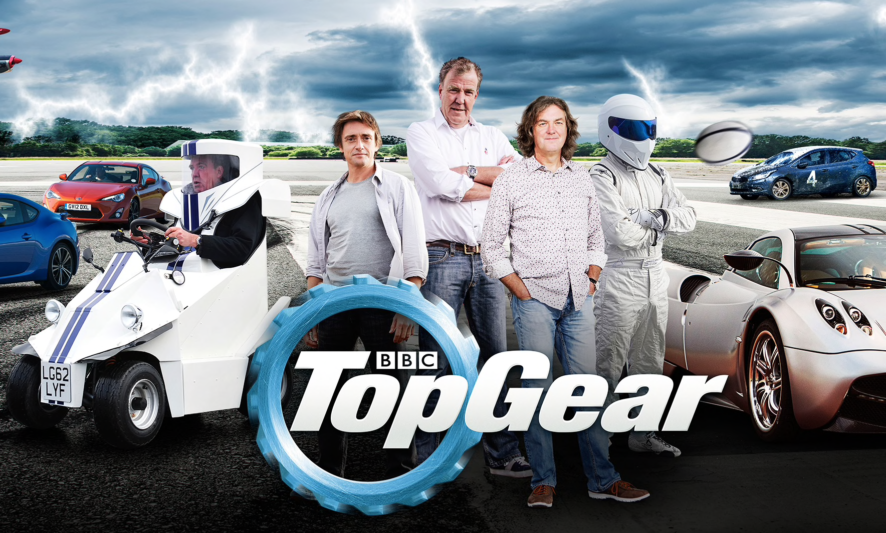 Top Gear Jeremy Clarkson, Richard Hammond, James May, and the Stig