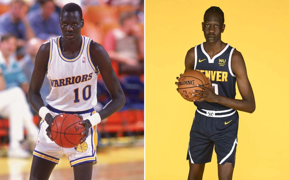 Manute Bol (Left), and Bol Bol (Right)