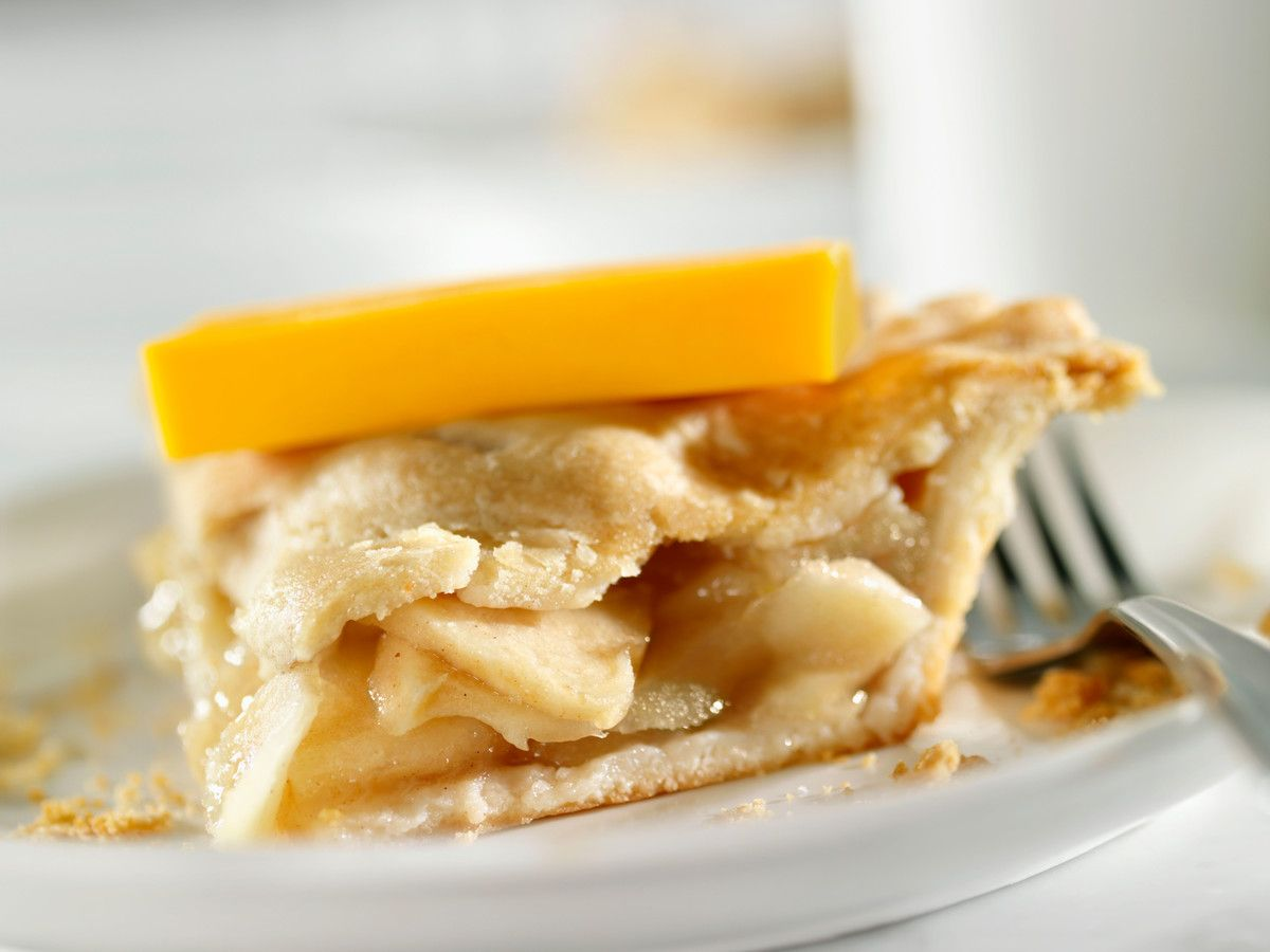 Apple Pie with a slice of cheddar cheese