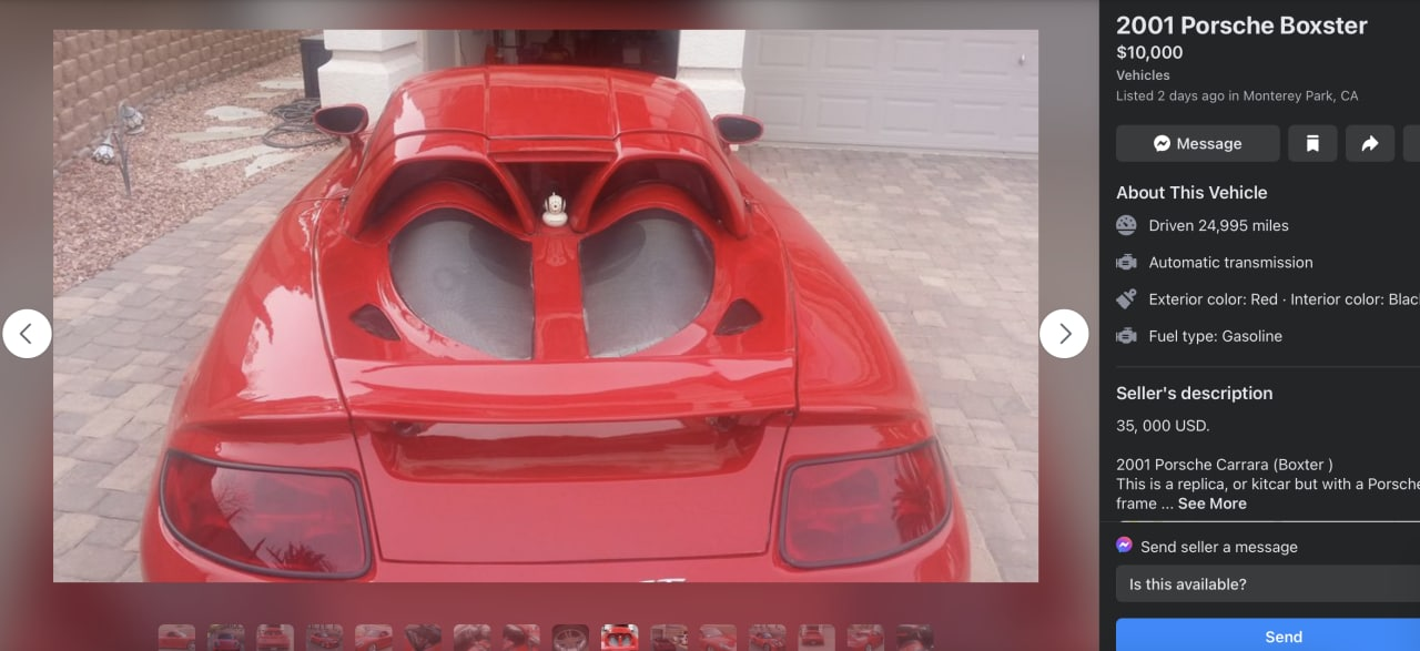 2001 Porsche Boxster with Carrera GT body kit rear