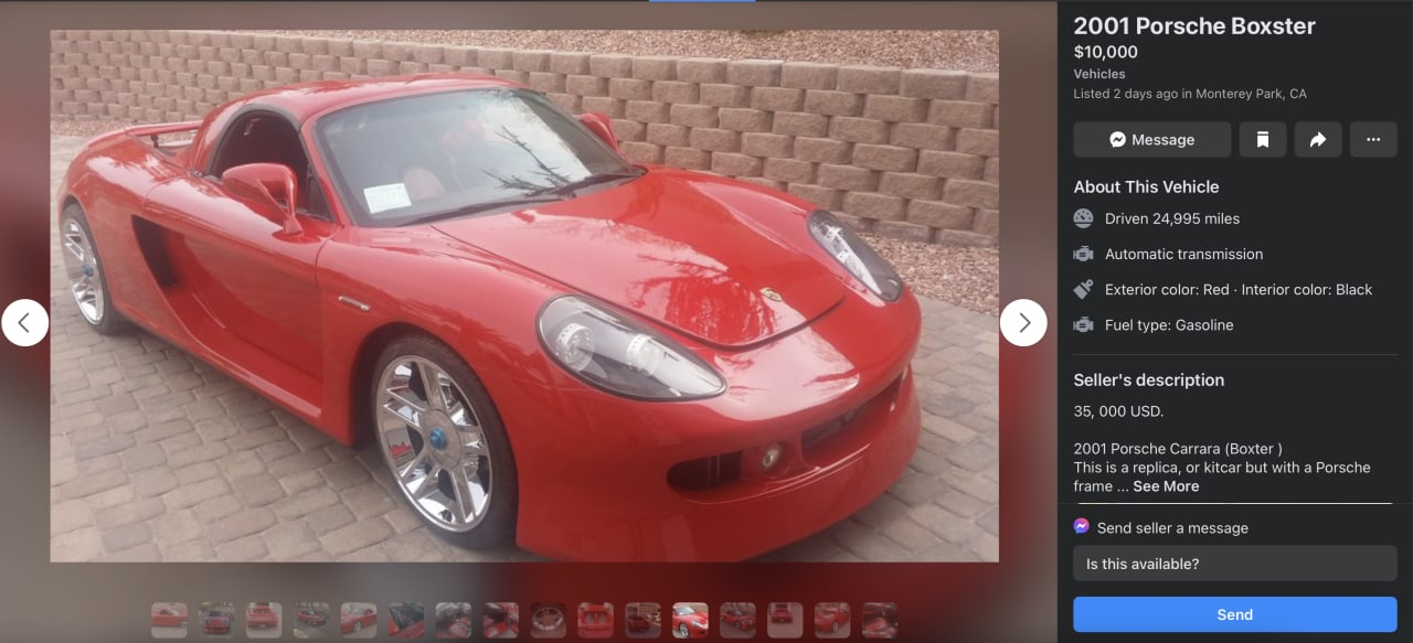 2001 Porsche Boxster with Carrera GT body kit front