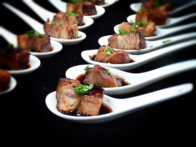 pork belly canape